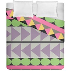 Shapes Patchwork Circle Triangle Duvet Cover Double Side (california King Size) by Mariart