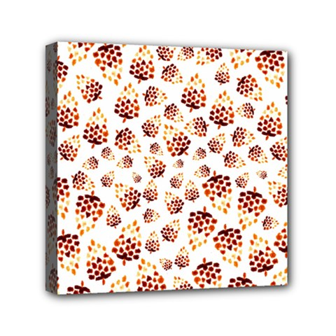 Pine Cones Pattern Mini Canvas 6  X 6  by Mariart