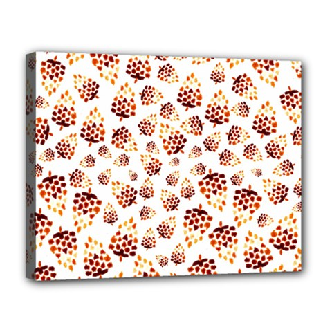 Pine Cones Pattern Canvas 14  X 11  by Mariart