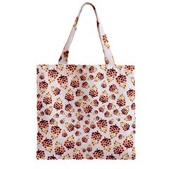 Pine Cones Pattern Zipper Grocery Tote Bag by Mariart