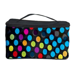 Polkadot Rainbow Colorful Polka Circle Line Light Cosmetic Storage Case by Mariart