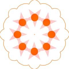 Test Flower Star Circle Orange Golf Umbrellas by Mariart