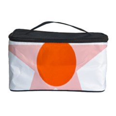 Test Flower Star Circle Orange Cosmetic Storage Case by Mariart