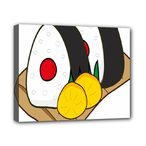 Sushi Food Japans Canvas 10  X 8  by Mariart