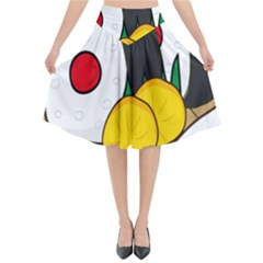 Sushi Food Japans Flared Midi Skirt by Mariart