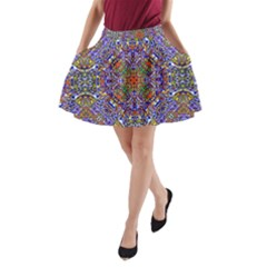 Oriental Pattern 01a A Line Pocket Skirt by MoreColorsinLife