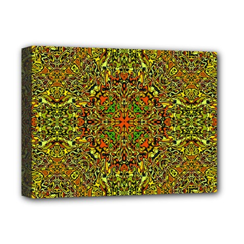 Oriental Pattern 01b Deluxe Canvas 16  X 12   by MoreColorsinLife