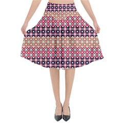 Abstract Patterns 02 70111 Flared Midi Skirt by wilaiwanschultz