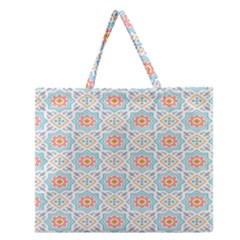 Star Sign Plaid Zipper Large Tote Bag by Mariart