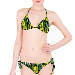 Sign Don t Panic Digital Security Helpline Access Bikini Set by Mariart