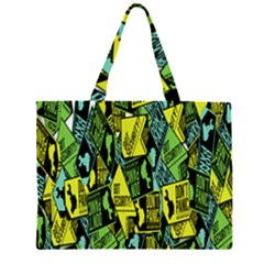 Sign Don t Panic Digital Security Helpline Access Zipper Large Tote Bag by Mariart