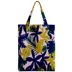 Tropics Leaf Yellow Green Blue Zipper Classic Tote Bag by Mariart