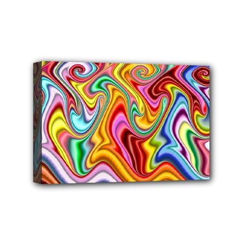 Rainbow Gnarls Mini Canvas 6  X 4  by WolfepawFractals