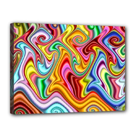 Rainbow Gnarls Canvas 16  X 12  by WolfepawFractals