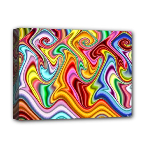 Rainbow Gnarls Deluxe Canvas 16  X 12   by WolfepawFractals