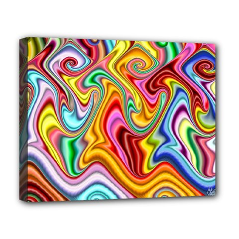 Rainbow Gnarls Deluxe Canvas 20  X 16   by WolfepawFractals