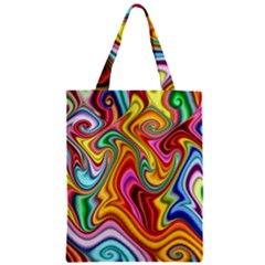 Rainbow Gnarls Zipper Classic Tote Bag by WolfepawFractals