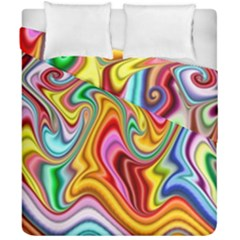 Rainbow Gnarls Duvet Cover Double Side (california King Size) by WolfepawFractals