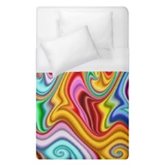 Rainbow Gnarls Duvet Cover (single Size) by WolfepawFractals