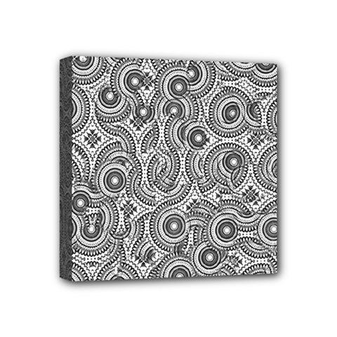 Broken Pattern F Mini Canvas 4  X 4  by MoreColorsinLife