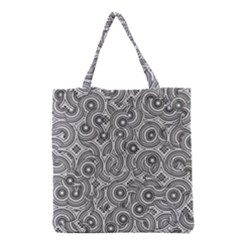 Broken Pattern F Grocery Tote Bag by MoreColorsinLife