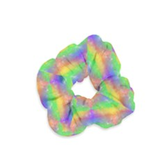 Painted Rainbow Pattern Velvet Scrunchie by Brini