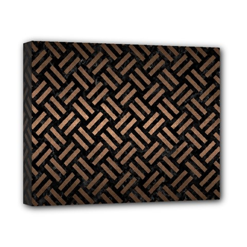 Woven2 Black Marble & Bronze Metal Canvas 10  X 8  (stretched) by trendistuff
