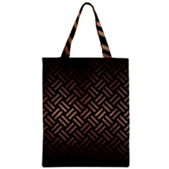 Woven2 Black Marble & Bronze Metal Zipper Classic Tote Bag by trendistuff