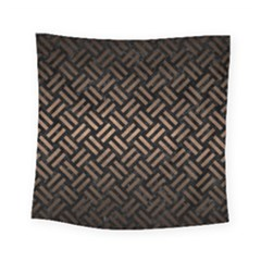 Woven2 Black Marble & Bronze Metal Square Tapestry (small) by trendistuff