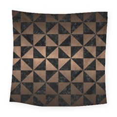 Triangle1 Black Marble & Bronze Metal Square Tapestry (large) by trendistuff