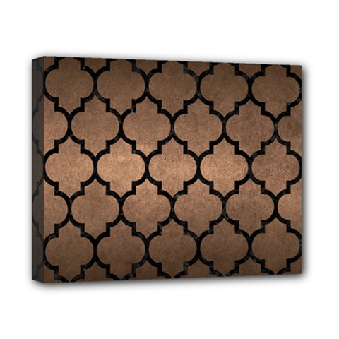 Tile1 Black Marble & Bronze Metal (r) Canvas 10  X 8  (stretched) by trendistuff