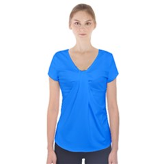 Azure Short Sleeve Front Detail Top
