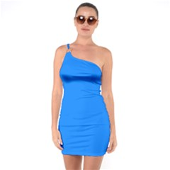Azure One Soulder Bodycon Dress by SimplyColor