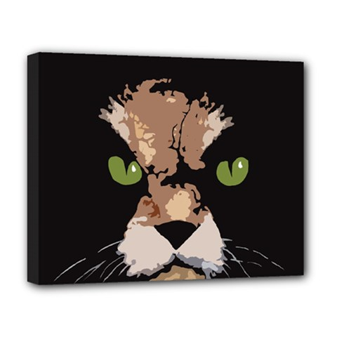 Cat  Deluxe Canvas 20  X 16   by Valentinaart