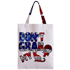 Dont Grab My Zipper Classic Tote Bag by Valentinaart