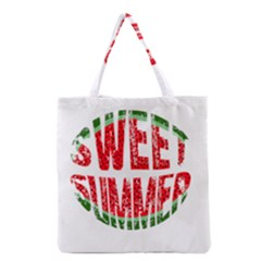 Watermelon   Sweet Summer Grocery Tote Bag by Valentinaart