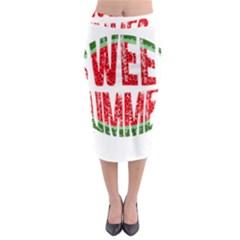 Watermelon   Sweet Summer Midi Pencil Skirt by Valentinaart