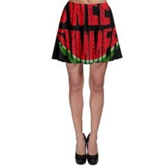 Watermelon   Sweet Summer Skater Skirt by Valentinaart