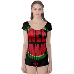 Watermelon   Sweet Summer Boyleg Leotard  by Valentinaart