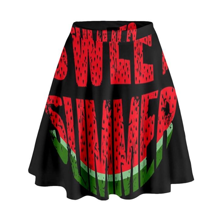 Watermelon - sweet summer High Waist Skirt