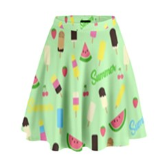 Summer Pattern High Waist Skirt by Valentinaart