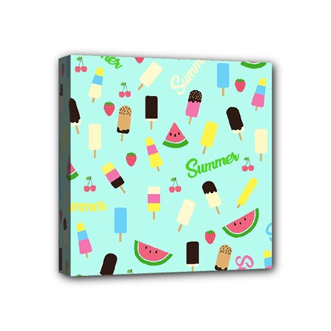 Summer Pattern Mini Canvas 4  X 4  by Valentinaart