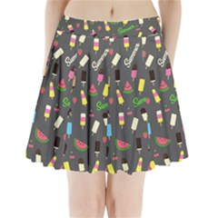 Summer Pattern Pleated Mini Skirt by Valentinaart