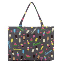 Summer Pattern Medium Zipper Tote Bag by Valentinaart