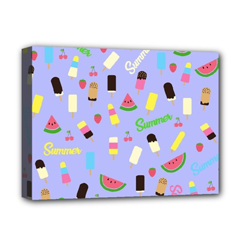 Summer Pattern Deluxe Canvas 16  X 12   by Valentinaart