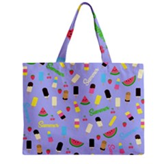 Summer Pattern Zipper Mini Tote Bag by Valentinaart