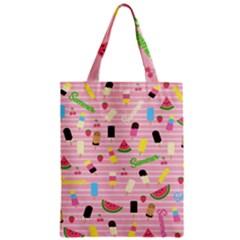 Summer Pattern Zipper Classic Tote Bag by Valentinaart