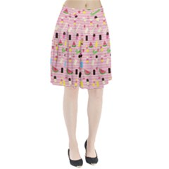 Summer pattern Pleated Skirt by Valentinaart