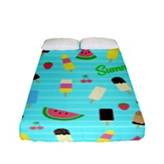 Summer Pattern Fitted Sheet (full/ Double Size) by Valentinaart