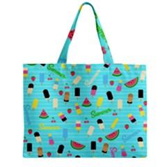 Summer Pattern Medium Tote Bag by Valentinaart